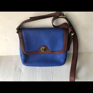 Isaac Mizrahi blue leather Crossbody bag